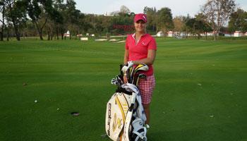 Anna Nordqvist picture in golf gear.